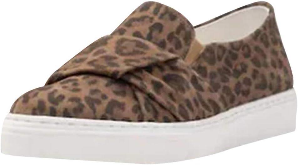 HunYUN Fashion Leopard Casual Shoe 2019 New Womens Peas Shoes Summer Casual Flat Single Shoes Elastic Band Shoes