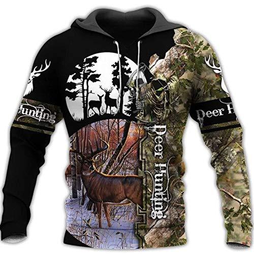 HOSD Gran suéter Capucha con tamaño de con y Suéter Hombre Digital para Estampado