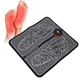EMS Foot Massager, Electric Rechargeable Foot Massage Mat Pain Relief Foot Pad Feet Muscle Stimulator with Storage Bag, Foot Relaxation 11.4 x 12.2inch