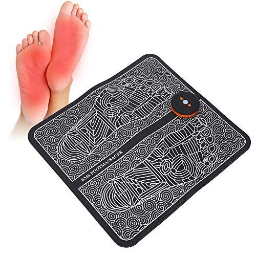 Filfeel EMS Masajeador de pies, Alfombrilla de Masaje eléctrica Recargable para pies Alivio del Dolor Almohadilla para los pies Pies...