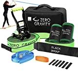 Slackline Kit with Industry Leading Carry BagSUPER Slacker Sale, Upgraded Ratchet with Smooth Operation + Tree Protectors; Great Set for Kids, in All Respects (Deluxe Slackline)