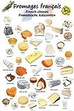 1art1 Käse - Französische Käsesorten XXL Poster 120 x 80