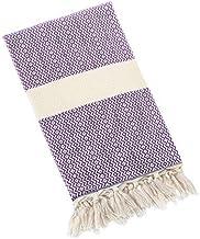 (140cm x 210cm, Purple) - Eshma Mardini Turkish Cotton Quilt Bed Spread Blanket Bed Cover for All Season 140cm x 210cm - P...