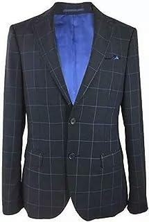 Men's Fitted Designer Blazers - Navy