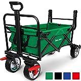 BEAU JARDIN Folding Garden Wagon Trolley 80KG Capacity Outdoor Camping Cart Portable Rolling Buggies Shopping...
