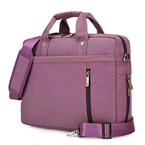"SNOW WI 15.6"" Expandable Laptop Shoulder Bag for MacBook,Acer,Asus,Dell(Purple)"