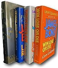 Rare James Bond 4-Book Lot License Renewed Win Lose John Gardner HC 1st US Edition