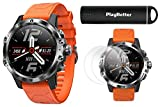 COROS VERTIX GPS Adventure Watch (Fire Dragon) Power Bundle | with HD Screen Protectors & PlayBetter Portable Charger | Sapphire Glass, Waterproof & 24/7 Oximeter