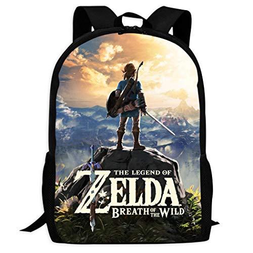 Therwd Childrens Adult Outdoor Sports School Backpack,Cool 3D Print ZE-ldA L/Eg-EnD,Book Bags Shoulder Bag