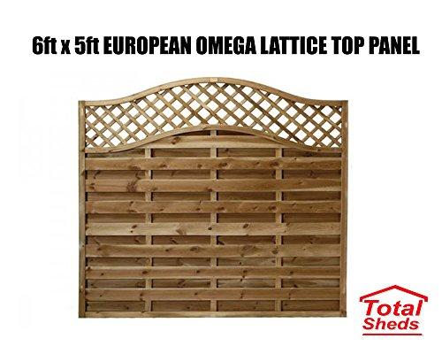 Total Sheds European Fence Panel 1.83m x 1.5m (6 x 5) Omega Decorative Lattice Top Pressure Treated Tanalised