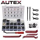 Autex 445 PCS Rivet Clips Plastique,Fixation de Protection Universel pour voiture...