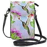 AEMAPE Floral Humming Bird Mini Crossbody Bolsos de Hombro Monedero para teléfono móvil Cartera...