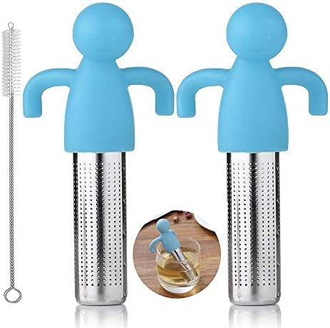 Tea Infuser Set of 2 Loose Leaf Tea Infusers with Cute Ball Body Silicone and 304 Stainless product image