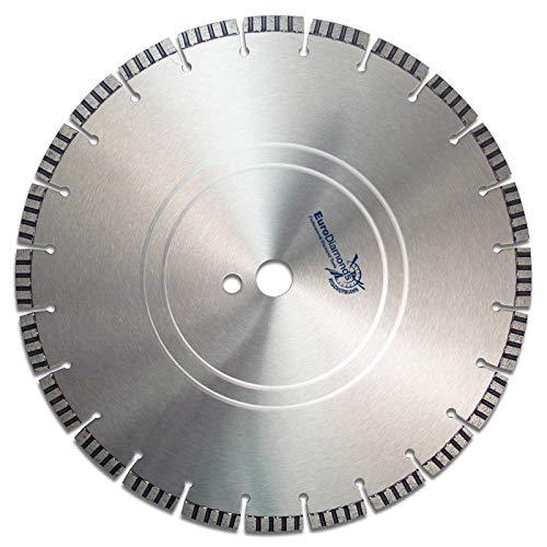 Profi Diamant-Trennscheibe TURBO SUPERCUT von EDW, Ø 350 mm, Standard Universal, perfekt für: Stahlbeton, Beton, Altbeton, Granit, Ziegel, Pflastersteine, Mauerwerk, armierte Materialien