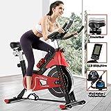 Fitnessclub Indoor Heimtrainer Radfahren Spin Bike mit Riemengetriebenem Schwungrad Radfahren Verstellbarer Lenker Sitzwiderst