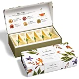 Tea Forte Herbal Retreat Petite Presentation Box Tea Sampler, Assorted Variety Tea Box, 10 Handcrafted Pyramid Tea Infusers, Relaxing Herbal Tea