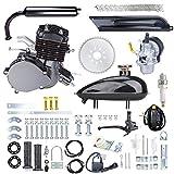 Yaheeda 80CC Bicycle Engine Kit,Motorized Upgrade Bike 2-Stroke Conversion Kit,DIY Petrol Gas Engine Bicycle Motor Kit Set for 26' and 28' Bikes (Black)