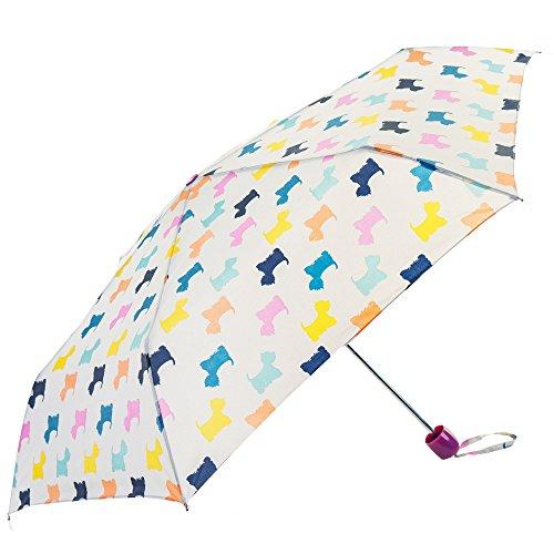 De wereld van de paraplu – bedrukt kleurrijke kleine honden – Susino paraplu inklapbaar, 24 cm, kleurrijk