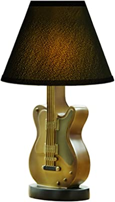 Lámpara de mesa de dormitorio lámpara de escritorio de violín, lámpara de mesa decorativa,