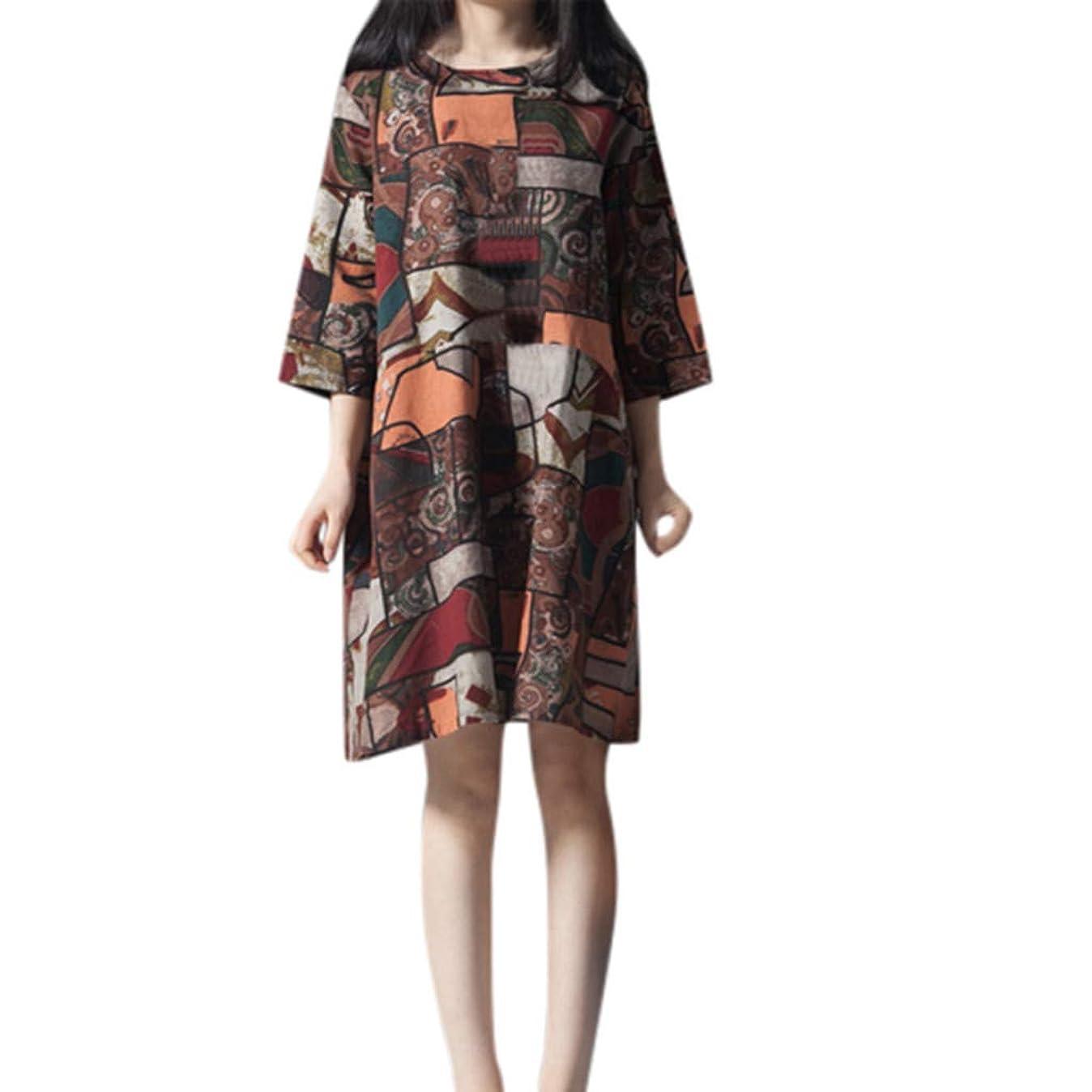 下に向けます発掘するプレートワンピース レディース Rexzo 個性 上質 綿麻ワンピース おしゃれ 人気 リネンワンピ ゆったり 体型カバー ワンピース 人気 ファッション スカート 大きいサイズ 着心地 ドレス お出かけ 日常 パーティー