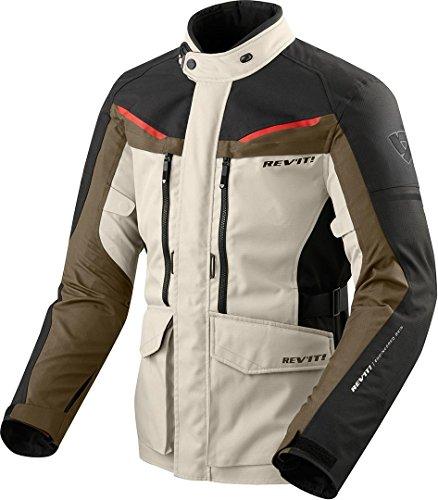 REV'IT! Motorradjacke mit Protektoren Motorrad Jacke Safari 3 Textiljacke Sand/schwarz XL, Herren, Enduro/Reiseenduro, Ganzjährig, beige