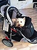 Hundebuggy Comfort EFA schwarz grau von Innopet - 5