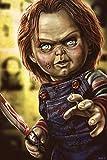 YHZSML Kit De Cuadro De Diamantes DIY 5D Pintura De Diamantes para_Muñeca Chucky Horror Diamond Pain...