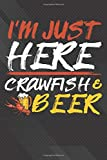 Beer: Cajun Boil Party Just Here For Crawfish  Crawfish Notebook, Journal for Writing, Size 6' x 9',...