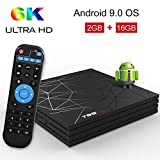 Android TV Box,T95 MAX Android 9.0 TV Box 2GB RAM/16GB ROM H6 Quad-Core