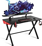 sanisol ERGONORMS Steel; MDF Office Desk; Gaming Table (semi glossy Finish, Black)