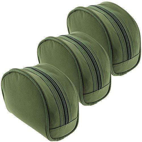 3 x NGT grün Polyester carp coarse gepolstert grün Angelzubehör Rolle Gehäuse set