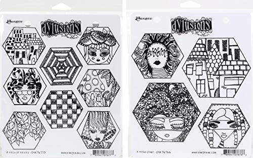 Dyan Reaveley's Dylusions Quilt Themed Stamps: A Heck of Hexies & A Head Start - 2 Items