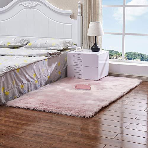 iSunday Faux wol bank tapijt mat hele wol kussen woonkamer slaapkamer lange pluche deken baby kinderkamer kamer tapijt