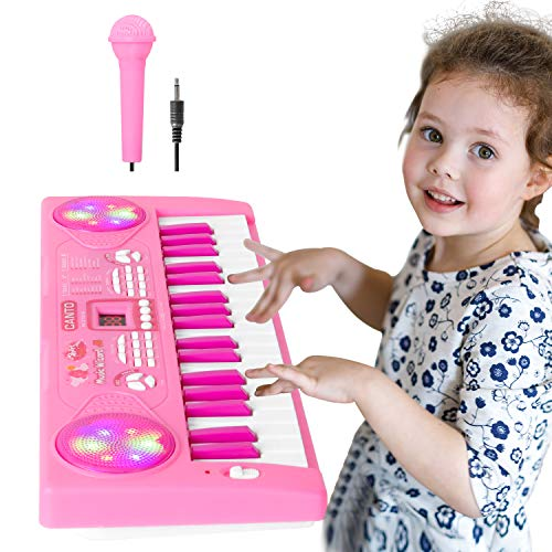 Shayson Teclado de Piano para Niños 37 Teclas Multifunción Teclado Electrónico Piano con...