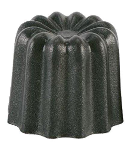 Patisse 43014 Lot de 4 Cannelés Aluminium Noir 45 mm