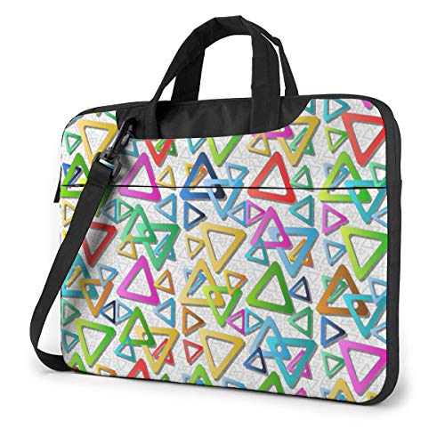 Marvellous Rounded Triangle Laptop Case 14 Inch Computer Carrying Protective Case with Strap Bag