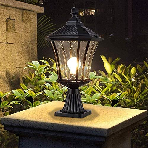 ZSMLB Apliques de Pared para Exteriores Luz de Pilar de Camino al Aire Libre Europeo Lámpara de Pedestal de Pasarela Impermeable E27 Lámpara de Poste de Patio Patio Jardín Patio Columna Linterna A