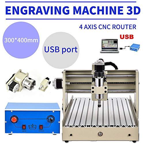 400W USB 4 ejes CNC 3040 fresadora máquina de grabado má