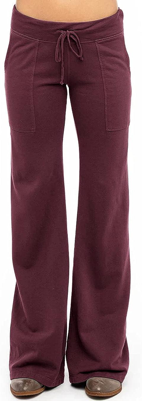 Sapenny Womens Yoga Sweatpants OFFer Wide Leg Max 85% OFF Palazzo Drawstring Comfy