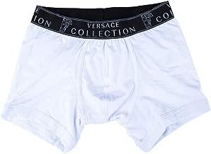 Versace Collection Men's White Stretch Cotton Medusa Boxer Brief Viop12