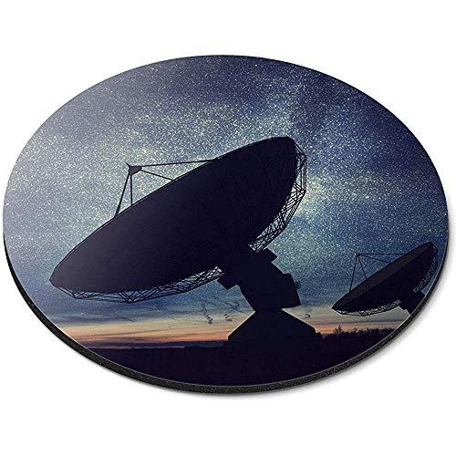Runde Mauspad - Satellitenschüssel Night Sky Office Geschenk