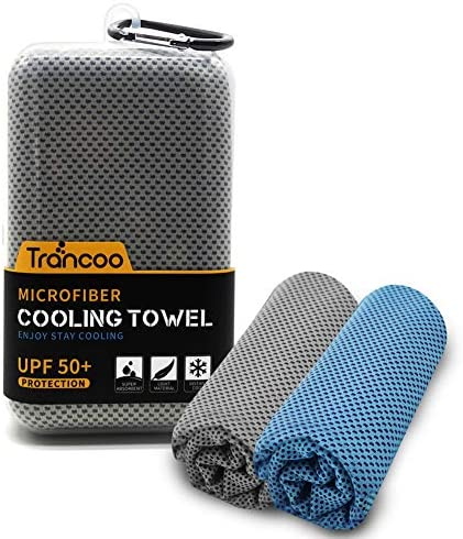 2pcs Trancoo Microfiber Neck Cooling Towel Super Absorbent Towel Quick Dry and Ultra Soft Lightweight product image