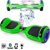 Magic Vida Skateboard Elettrico 6.5 Pollici Bluetooth con Due Barre LED Monopattini elettrici...
