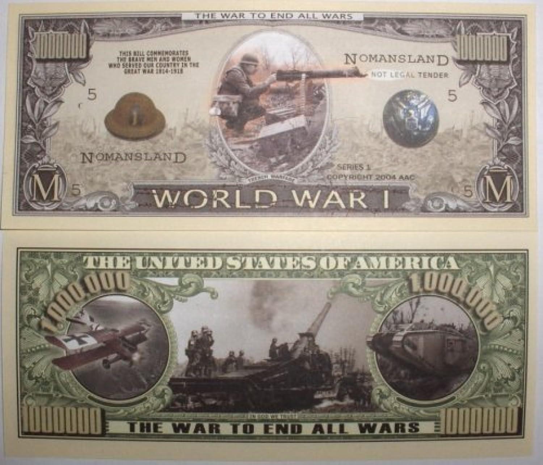 Set of 10 Bills-World War I Million Dollar Bill by Novelties Wholesale