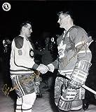 Desconocido Maurice Richard & - Allan Stanley firmada 8 x 10 – MTL canadienses – a Hojas de Arce