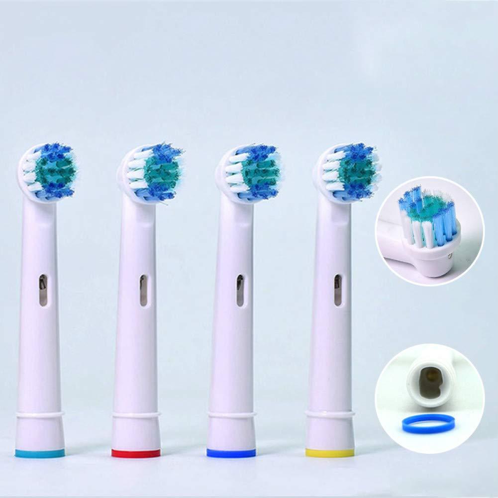 Limpieza de los dientes 4pcs / Dientes paquete de reemplazo eléctrico ToothbrushForSoft Cerda vitalidad Dual Clean Care Profesional Herramientas de limpieza: Amazon.es: Hogar
