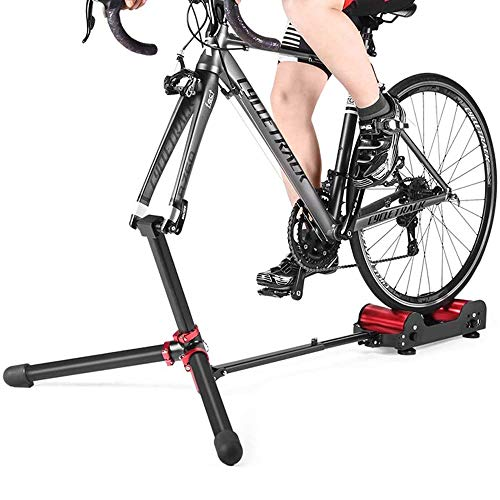 LKNJLL Bike Trainer Stand Resistance Adjustable - Portable Magnetic Bicycle Rollers Indoor Exercise/Fitness/Workout - Foldable Fully Aluminum Alloy with Tote Bag for Travel