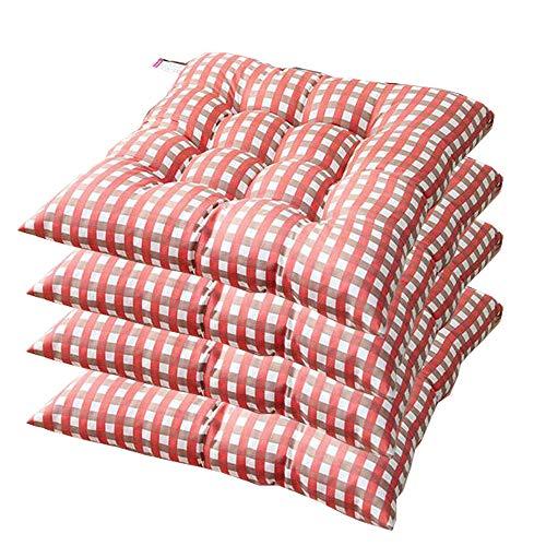 AGDLLYD Cuscino Sedia 40x40,Cuscini da Sedia Trapuntati,Morbido Cuscino per Sedia Cuscino Sedia Cucina da Giardino 40x40x7cm,Disponibile in Tanti Colori Diversi (Arancione,4 Pezzi)