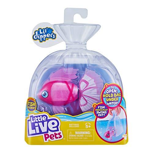 """Little Live Pets Little Live Pets 26159 Confezione singola Lil' Dippers di Little Live Pets - Bellariva - Lil' Dippers di Little Live Pets con effetto """"Wow"""" quando si apre in acqua e cibo interattivo"""