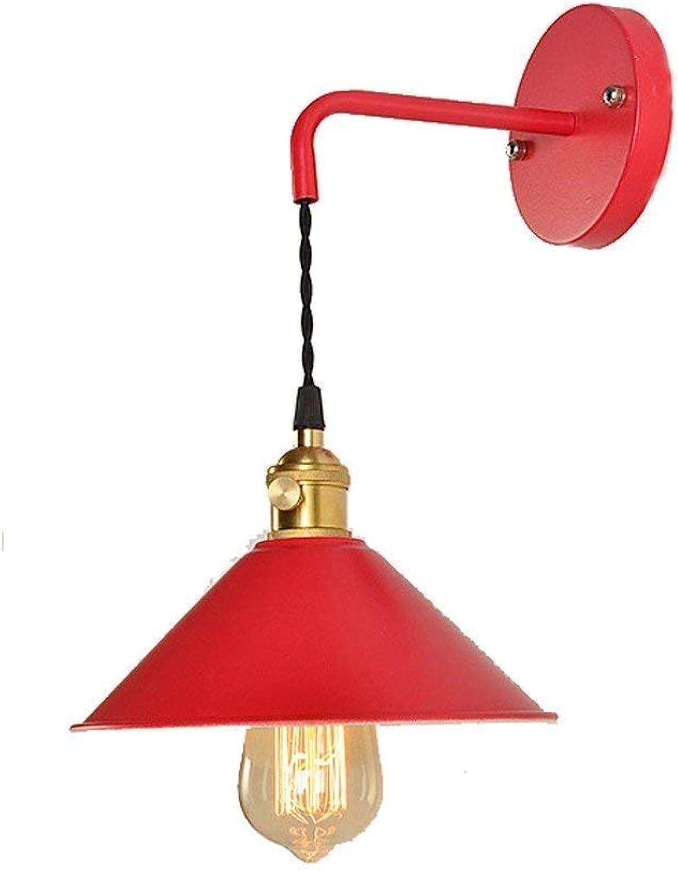 Willlly Treppenhaus Kreativ Stilvolle Villa Dekoration Design Wandlampe Lampe Licht Minimalistischen Vintage Beleuchtung Lampe (Farbe   Rot-Größe)